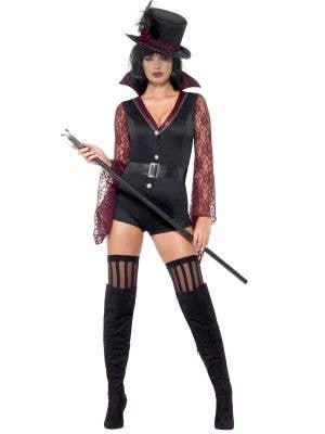 Women's Sexy Fever Vampire Halloween Fancy Dress Costume - Front Image