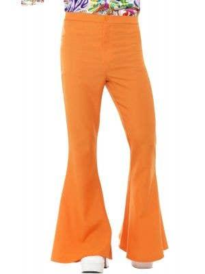 Retro 70's Orange Men's Flared Costume Trousers