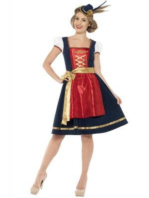 Women's Traditional Bavarian Beer Girl Costume Front View