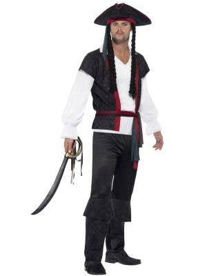 Men's Aye Aye Captain Fancy Dress Pirate Costume Image 1