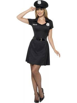Women's Classic Special Constable Police Officer Fancy Dress Costume Front View