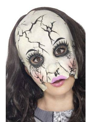 Women's Broken Doll Halloween Latex Mask