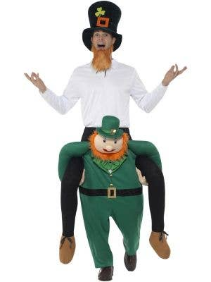 Piggyback Paddy's Leprechaun Adult's Fancy Dress Costume