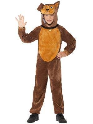 Cute Brown Dog Kids Animal Onesie Costume