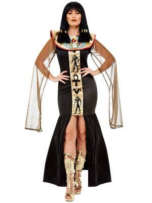 Black and Gold Cleopatra Costume for Women - Main Image