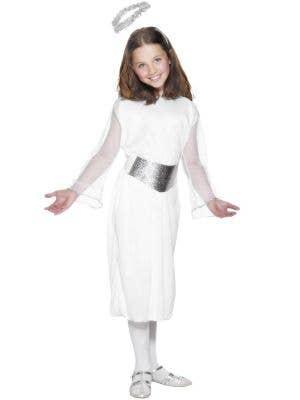 Basic White Angel Girls Christmas Fancy Dress Costume