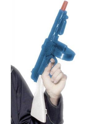 Blue Plastic 20's Tommy Gun Costume Weapon with Sound Effects