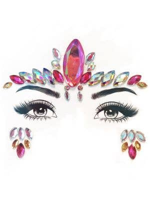 Pink and Silver Stock On Face Gems