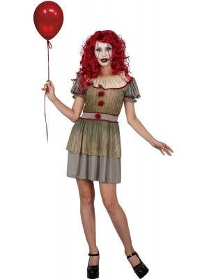 Sideshow Sam Women's Halloween Clown Costume