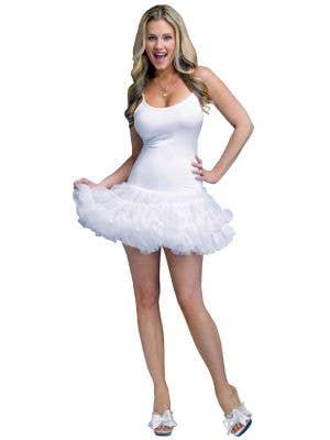 Women's White Petticoat Costume Dress