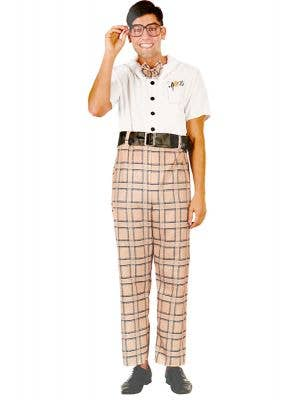 School Nerd Men's Funny Geek Fancy Dress Costume