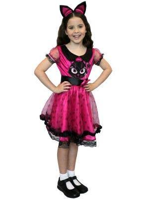 Little Kitty Girl's Pink Cat Fancy Dress Costume