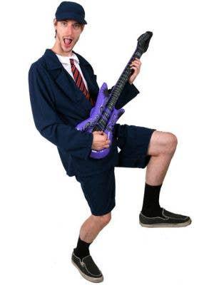 Angus Young Schoolboy Rocker Men's Fancy Dress Costume