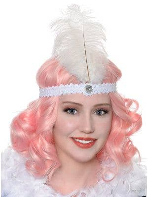 Roaring 20's Women's White Flapper Headband Costume Accessory