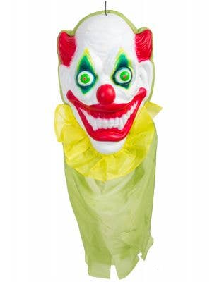 Large Hanging Scary Clown Head Halloween Decoration