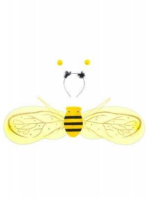 Girls Bumblebee Wings and Headband Set - Main Image