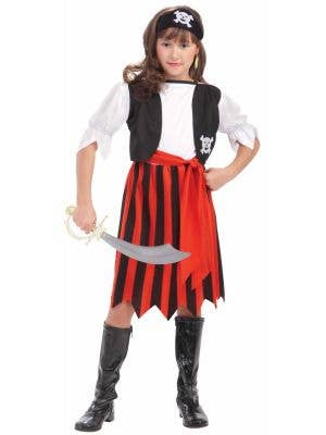 Pirate Lass Girls Fancy Dress Costume