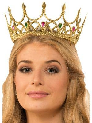 Queen Gold Medieval Costume Crown Accessory