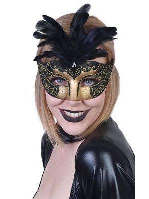 Gabrielle Women's Black Masquerade Mask