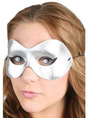 Cat Eye Silver Women's Masquerade Mask