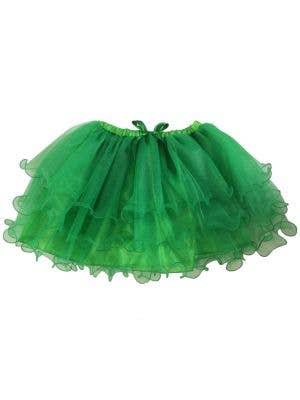 Fluffy Green Ruffled Mesh Women's Tutu Skirt