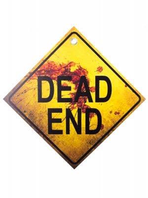 Blood Splattered Dead End Sign