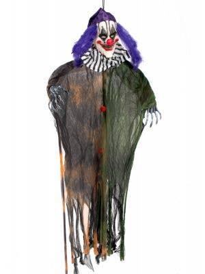 Hanging Green, Purple and Orange Light Up Clown Prop