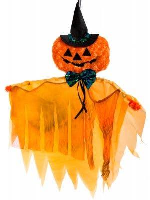 Orange Pumpkin Decoration with Lights
