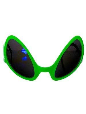 Space Alien Eyes Neon Green Costume Glasses