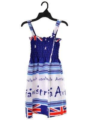 Aussie Flags Design Girls' Australia Day Summer Dress - Print Variation 1