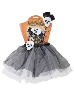 Skeleton Girls Halloween Tutu Costume Accessory Set