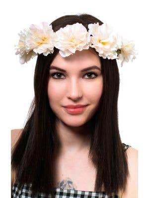 Pretty Peach Flower Headband Costume Accessory