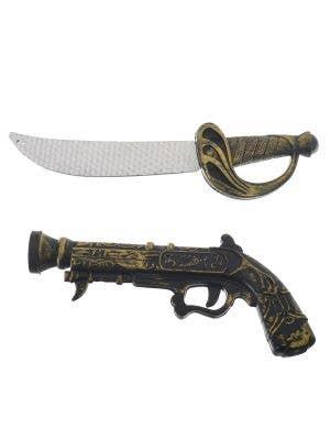 Kids Pirate Sword and Gun Set