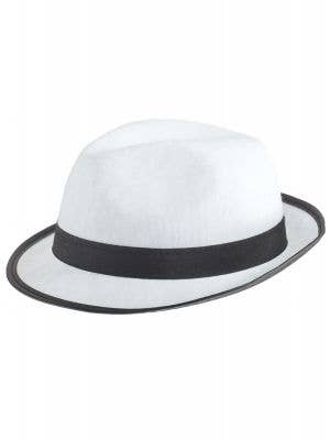 White and Black 1920's Gangster Costume Hat