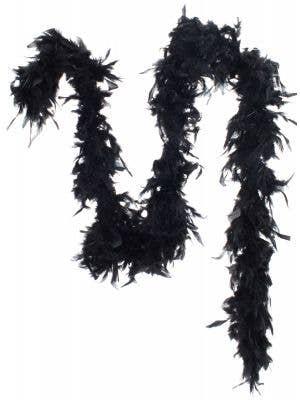 Black Fluffy Feather Boa