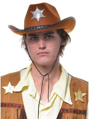 Light Brown Adults Cowboy Costume Hat
