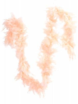 Peach Pink Fluffy Feather Boa