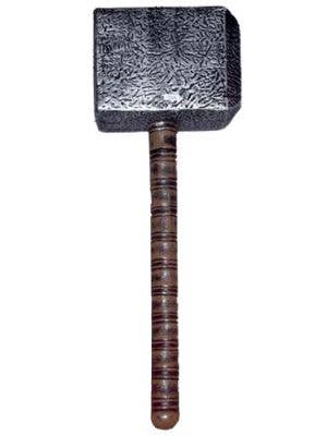 Thor Mjolnir Hammer Weapon Grey And Brown 2 Part Costume Hammer Accessory Main Image