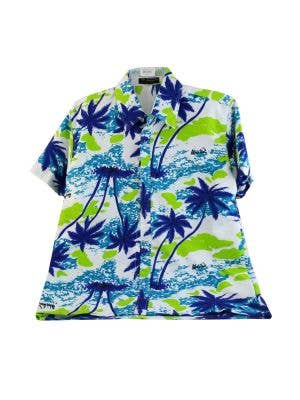 Tropical Hawaiian Print Men's Costume Shirt