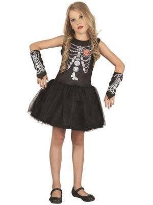 Diamond Skeleton Girl's Halloween Costume