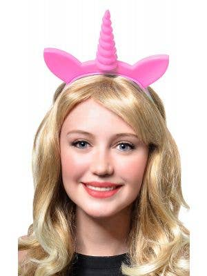 Unicorn Light Pink Light Up Novelty Costume Headband