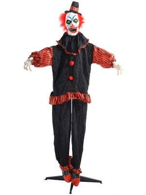 Red and Black Halloween Clown Decoration - Main Image