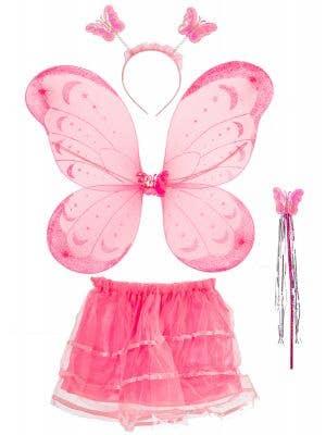 Girls Pink Fairy Accessory Set