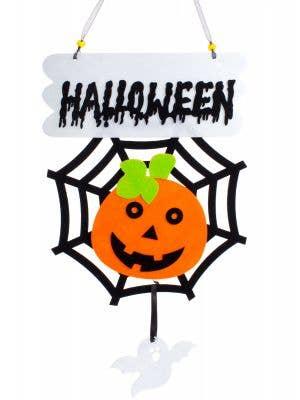 Hanging Pumpkin Spider Web Child Friendly Halloween Decoration