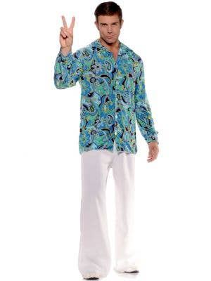 1970's Groovy Hippie Men's Costume Shirt