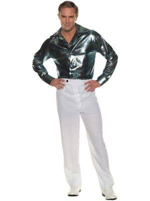 70's Rainbow Lines Disco Costume Shirt for Men