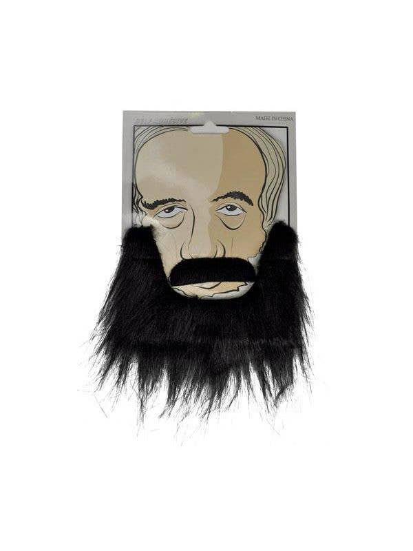 Black Beard And Moustache Set Amish Costume Accessory - Main Image