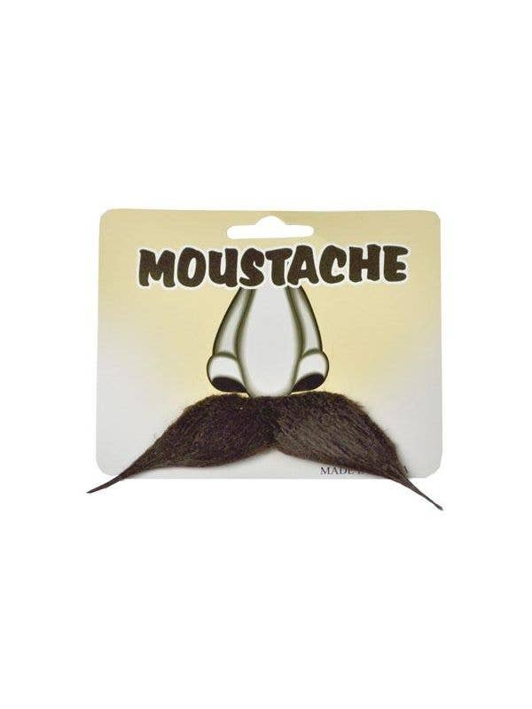 Stick On Pointed Brown Costume Moustache