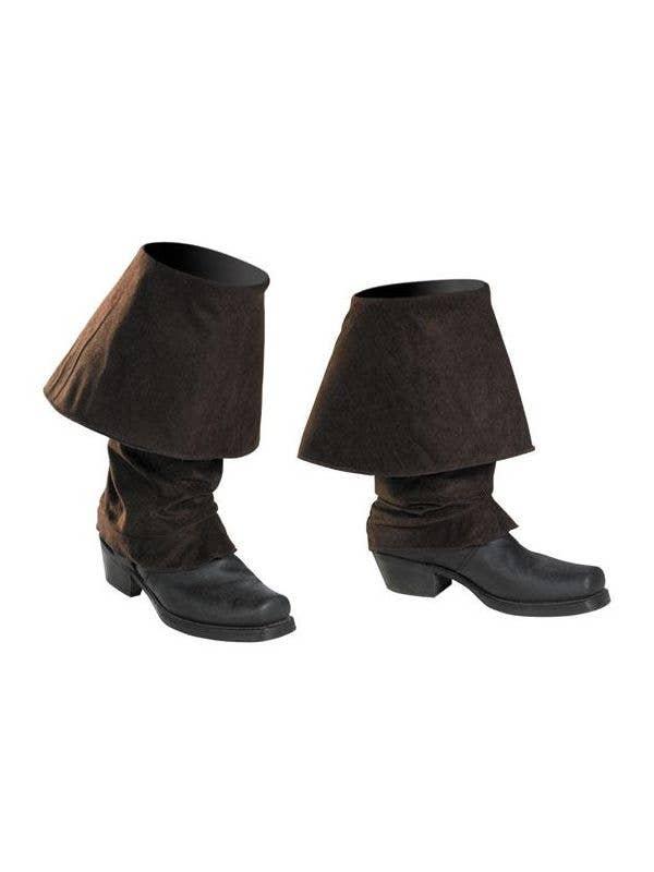 CHILD PIRATE SANTA BLACK BOOT TOPS HALLOWEEN COSTUME ACCESSORY