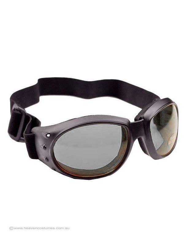 Thick Black Aviator Goggles Costume Glasses